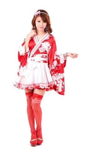 Asiatiske Kimono med Bue Kimono Kjoler