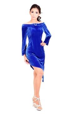 Blå Cocktail Kjole