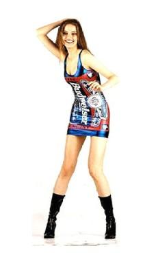 Blå Metallic Budweiser Kjole Korte Kjoler
