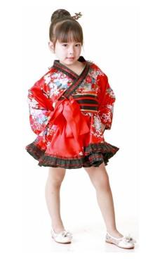 Blomstermotiv Kimono Børnekjole Kimono Børnekjoler