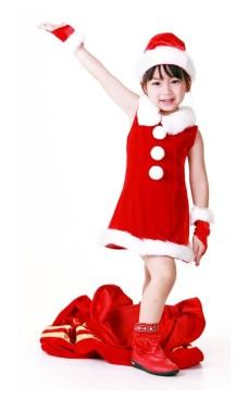 Børn Julemanden Kjole
