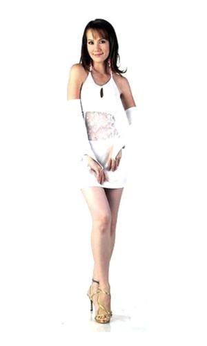Elegant Kort Hvid Kjole Korte Kjoler