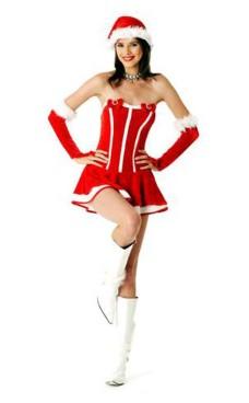 Elegant Santa Girl Dress Christmas Dresses