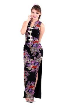 Elegant Sort Asian Selskabskjole Asiatiske Kjoler
