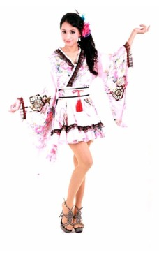 Flot Lyserød Kimono Kimono Kjoler