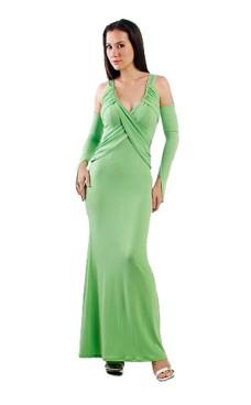 Forførende Grøn Kjole Lange Kjoler