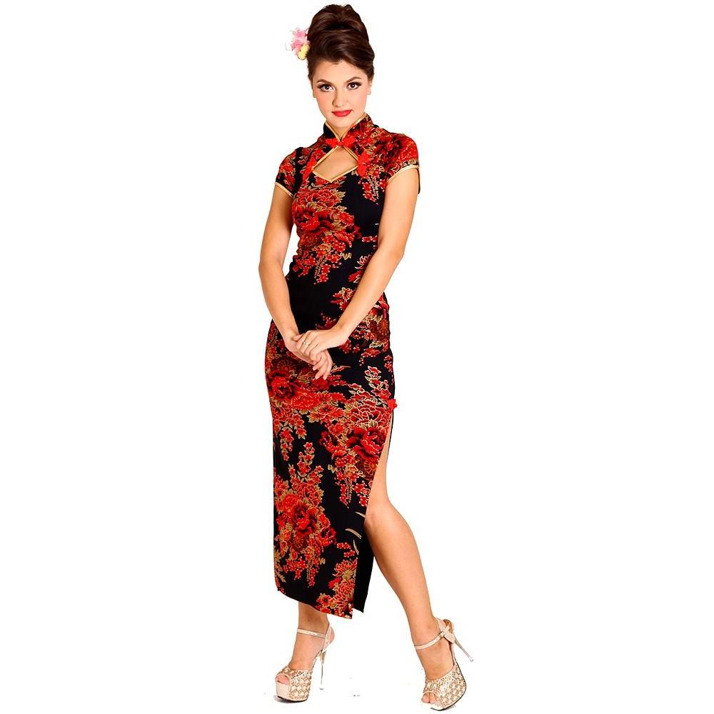 Sort Kinesisk Asiatiske Forførende Kjoler Kjole AUwd4q