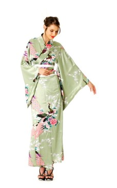 Grøn Kimono Kjole Kimono Kjoler