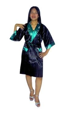 Grøn Silke Morgenkåbe Unisex Kimonoer