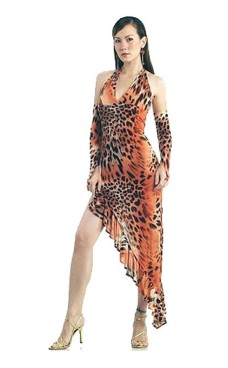 Hed Leopard Dansekjole Lange Kjoler