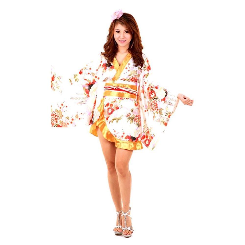 Hvid Hvid Kimono Asiatisk Kjoler Asiatisk T4wddq