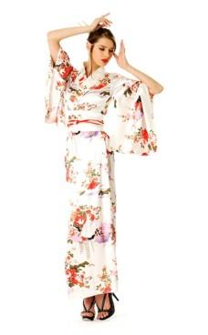 Hvid Kimono Kjole