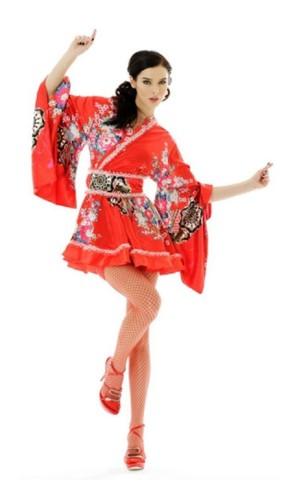 Kimono Mini Kjole Kimono Kjoler