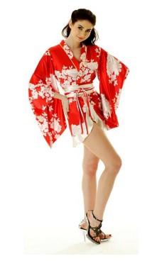 Kort Rød Yukata Kjole