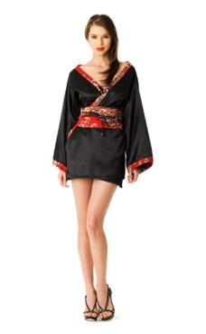 Kort Sort Kimono Kimono Kjoler