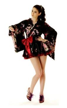 Kort Sort Yukata Kimono Kjoler