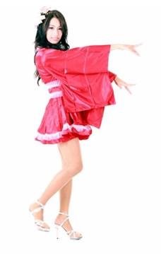 Lange T-muffe Red Kimono