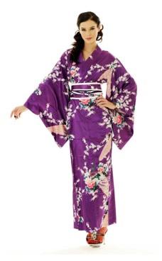 Lilla Kimono Kjole