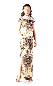 Luksuriøs Asian Selskabskjole Asiatiske Kjoler