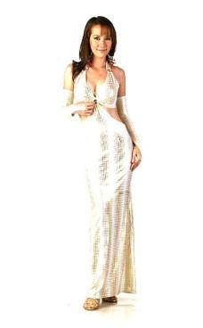 Moderne Guld Kjole Lange Kjoler