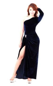 Mørkeblå Aftenkjole Lange Kjoler