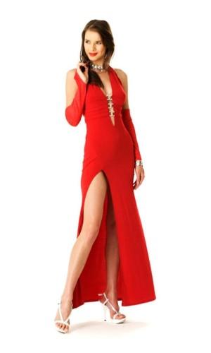 Rød Selskabskjole Lange Kjoler