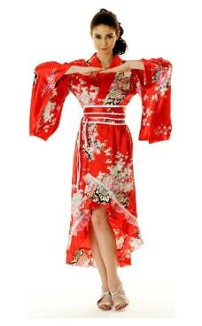 Rød Yukata Kjole
