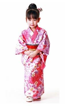 Rosa Kimono Børnekjole Kimono Børnekjoler
