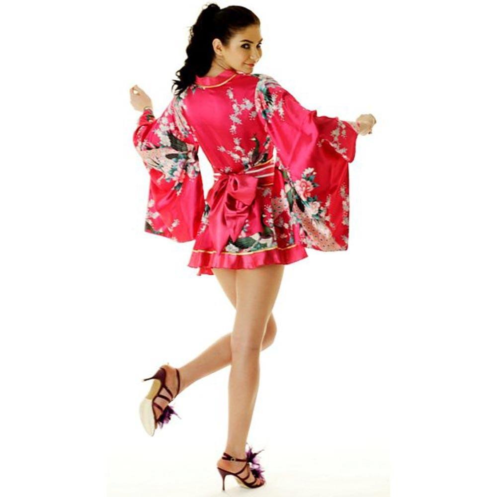 5c28460d9c4e ... Rosa Yukata Minikjole Kimono Kjoler
