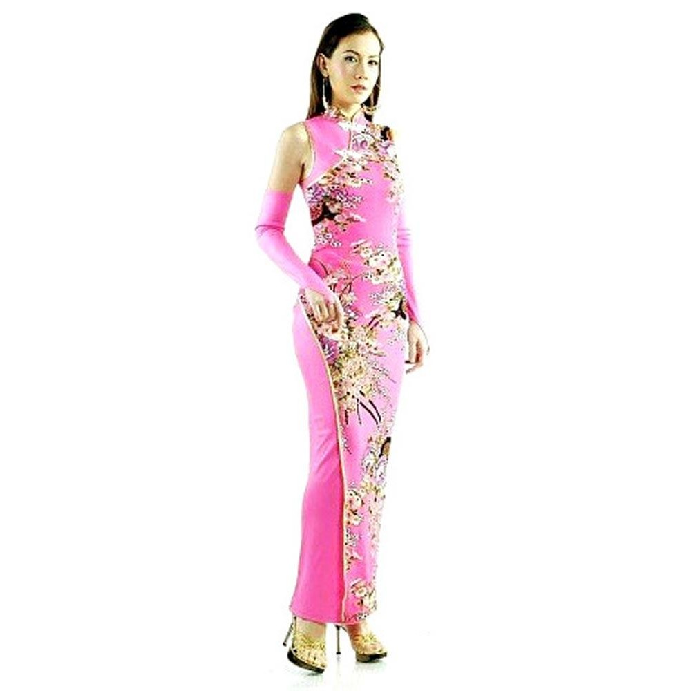45794e40ac5f Sart Rosa Qipao - Asiatiske Kjoler