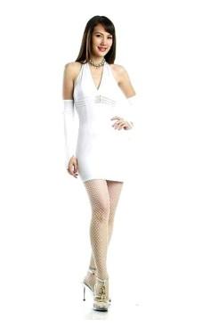 Sexede Hvid Minikjole Korte Kjoler
