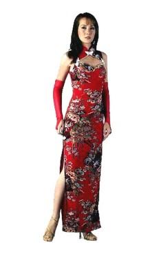 Sexede Rød Kinesisk Kjole Asiatiske Kjoler
