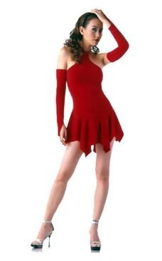 Sexede Rød Minikjole Korte Kjoler