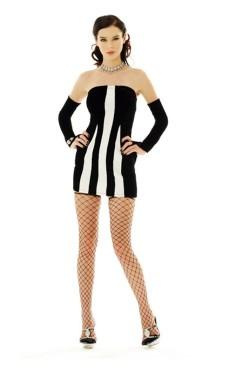 Sexede Zebra Kjole Korte Kjoler