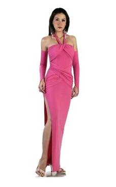 Smuk Rosa Kjole Lange Kjoler