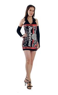 Sort Budweiser Kjole Korte Kjoler