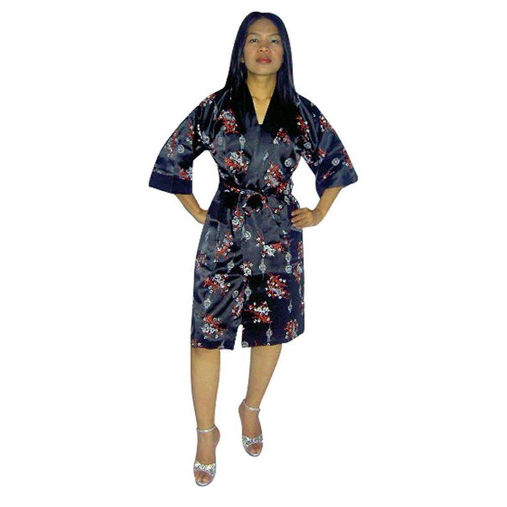 Sort Silke Morgenkåbe - Unisex Kimonoer