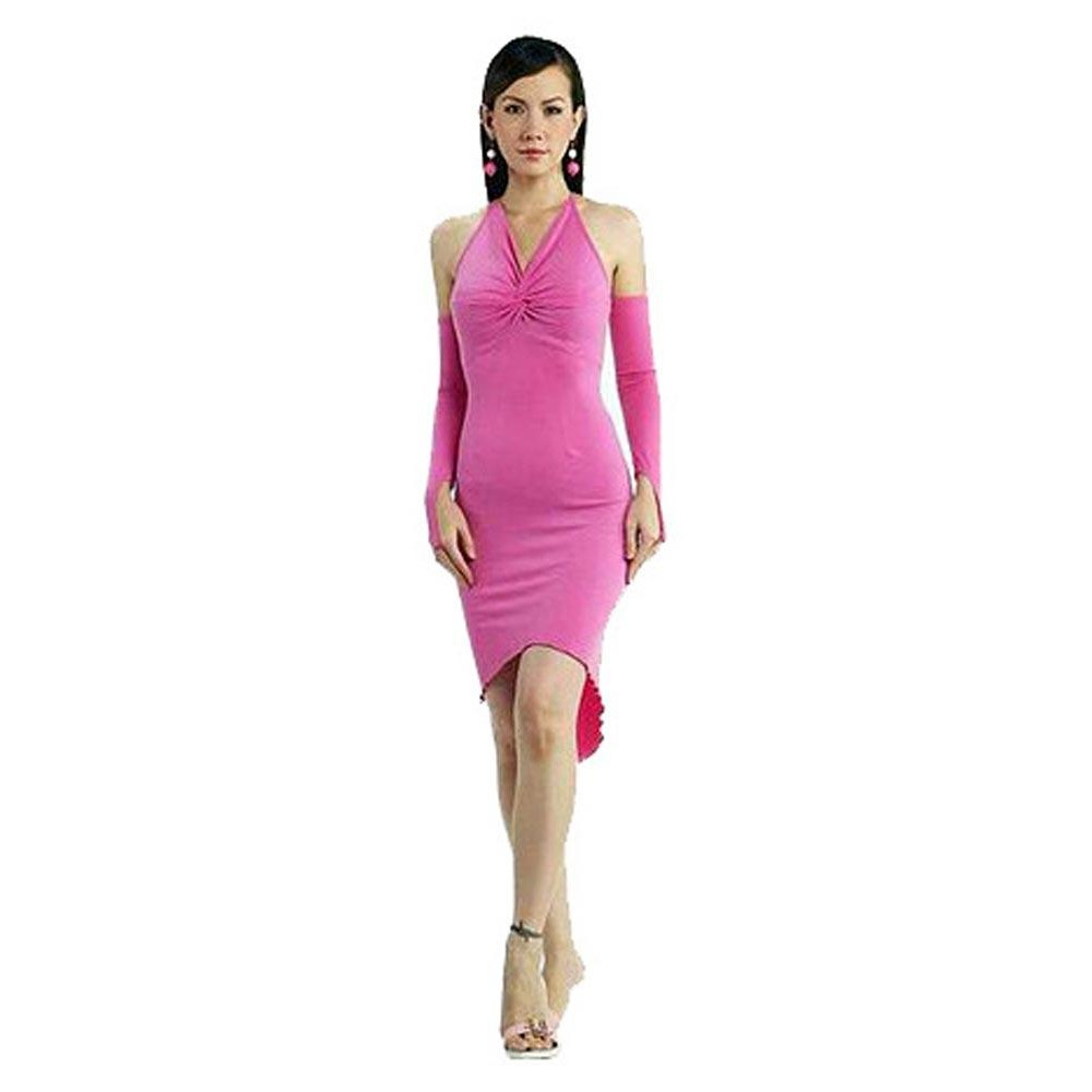 210f6950994f Stilfuld Kort Rosa Kjole - Korte Kjoler