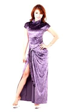 Stilfuld Lavendelblå Kjole Lange Kjoler