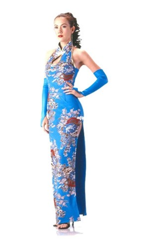Stilfuld Turkis Cheongsam Asiatiske Kjoler