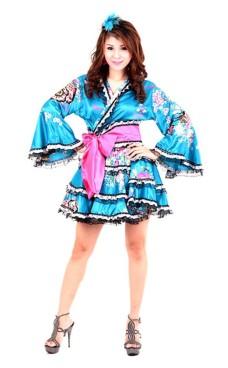 Yukata Mini Kjole Kimono Kjoler